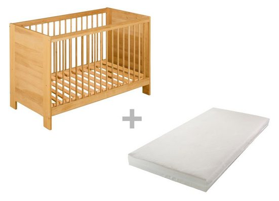 BioKinder - Das gesunde Kinderzimmer Babybett »Niklas«, 60x120 cm mit Matratze