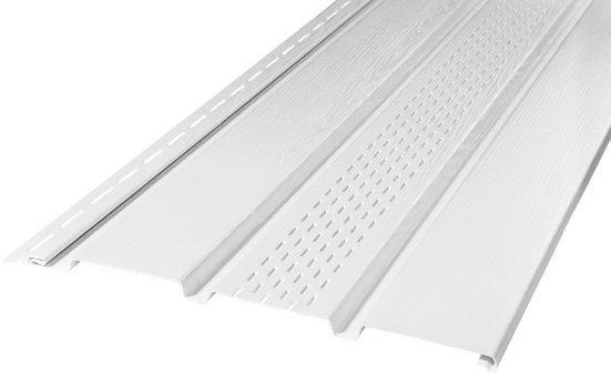 BAUKULIT Set: Verkleidungspaneel »SOFFIT weiß«, für Dachüberstand, mit Lüftungsschlitzen, 8,1 m²