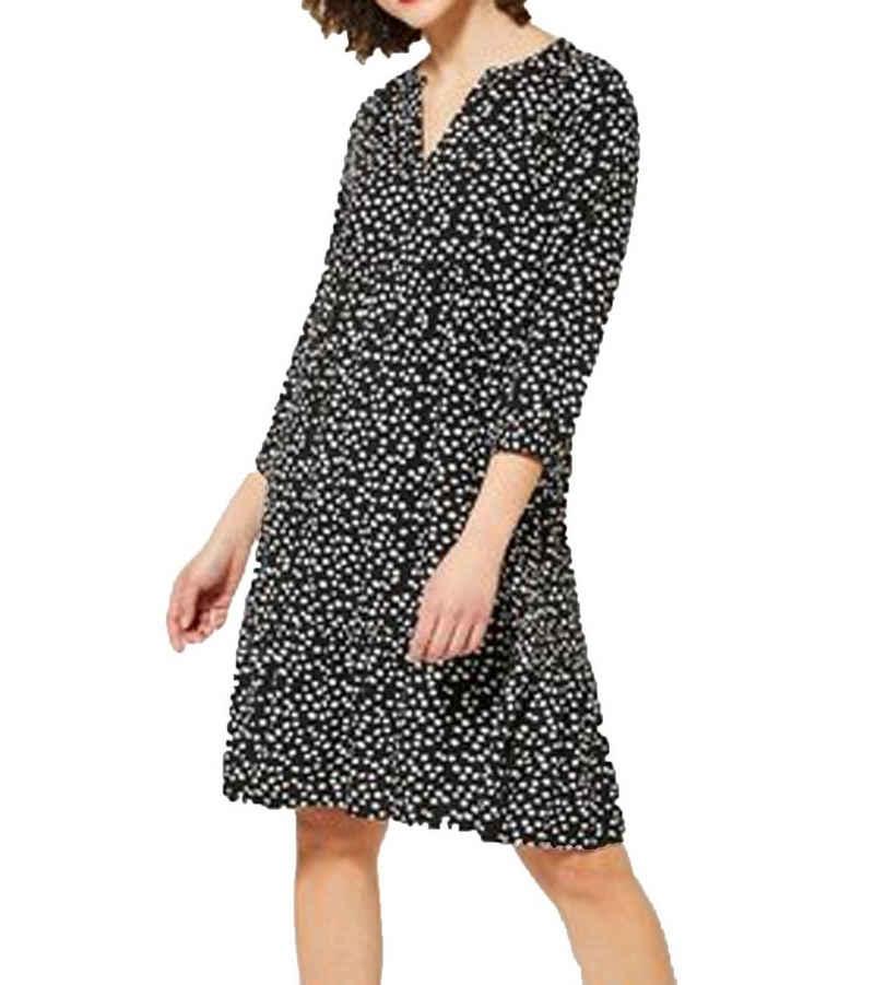 STREET ONE Tunikakleid »Street One Tunika-Kleid lockeres Damen Couch-Kleid mit gepunktetem Muster Chill-Kleid Schwarz«