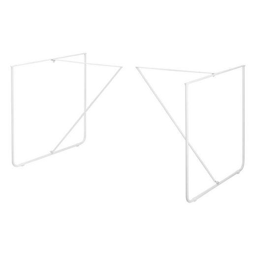 en.casa Untergestell, (2-St), 2x Tischgestell für DIY Esstisch »Makers« - Weiß - 79,5x62x73cm