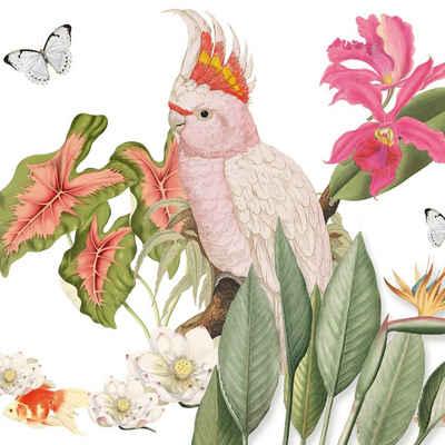 anna wand Bordüre »Paradies mehrfarbig auf weiß«, selbstklebend