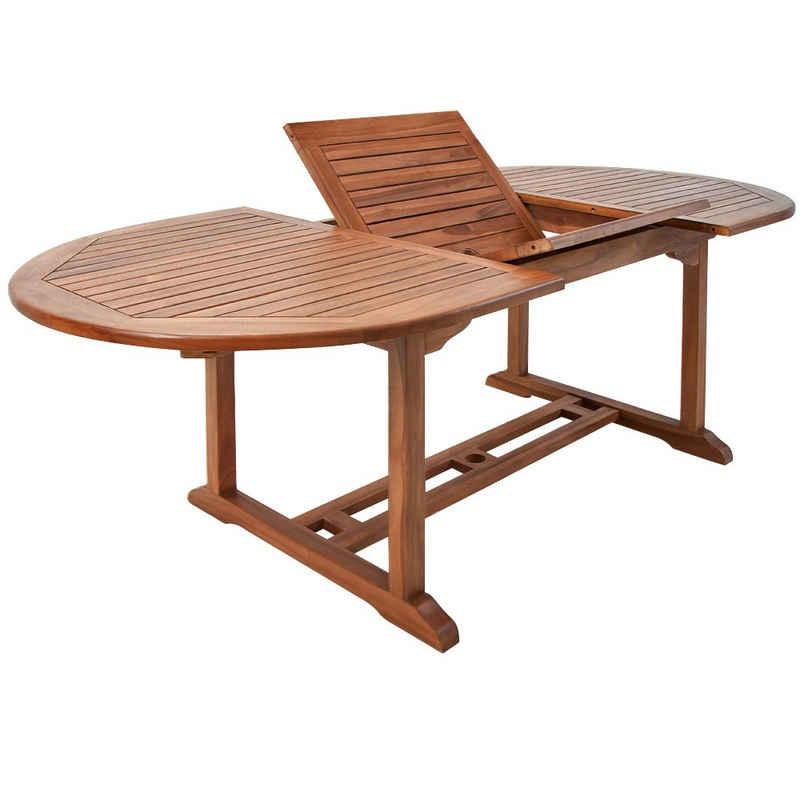 Deuba Gartentisch, FSC®-zertifiziertes Eukalyptusholz wetterbeständig 200x100cm Holz Tisch Gartenmöbel Garten Terrasse