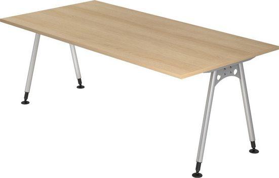 bümö Schreibtisch »OM-AS2E«, 200x100 cm höhenverstellbar bümö® Premium Qualität