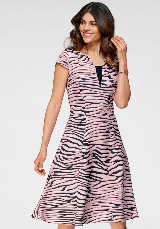 Festtagsmode - HERMANN LANGE Collection Cocktailkleid mit Zebra Muster ›  - Onlineshop OTTO