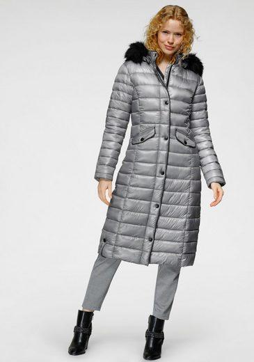 ALPENBLITZ Steppjacke »Schneegeflüster« mit abnehmbarem Kunstfellbesatz und modischen Lederimitatdetails für ein klassisches und gleichzeitig cooles Outfit