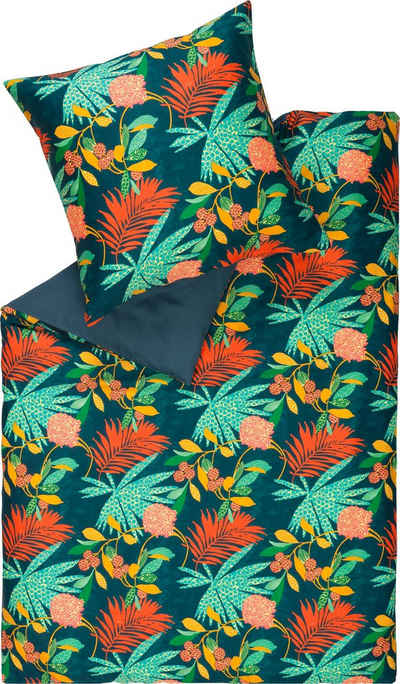 Wendebettwäsche »Tropic«, SCHÖNER WOHNEN-Kollektion, mit Dschungel-Motiv