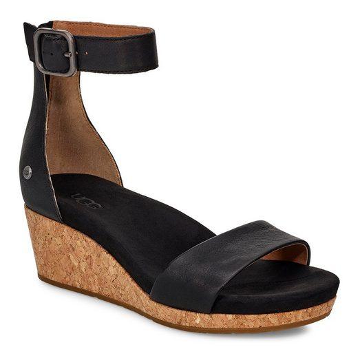 UGG »Zoe II« Sandalette mit Kork-Absatz