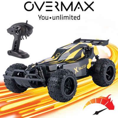 Overmax RC-Auto »X-RALLY 2.0«, TÜV 25 km/h 30 min Reichweite 100m Verstärkte Konstruktion