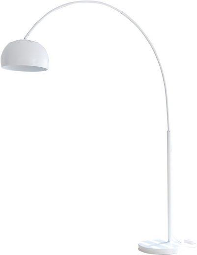 SalesFever Bogenlampe »Frieso«, Dimmschalter, echter Marmorfuß