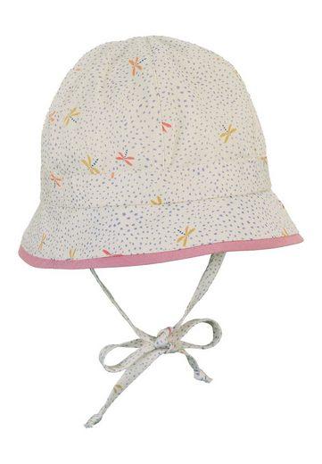 Sterntaler® Sonnenhut »Hut« aus Bio-Baumwolle; mit Größenregulierungsband, Ohrenklappen und Bindeband; gefüttert mit Bio-Batist
