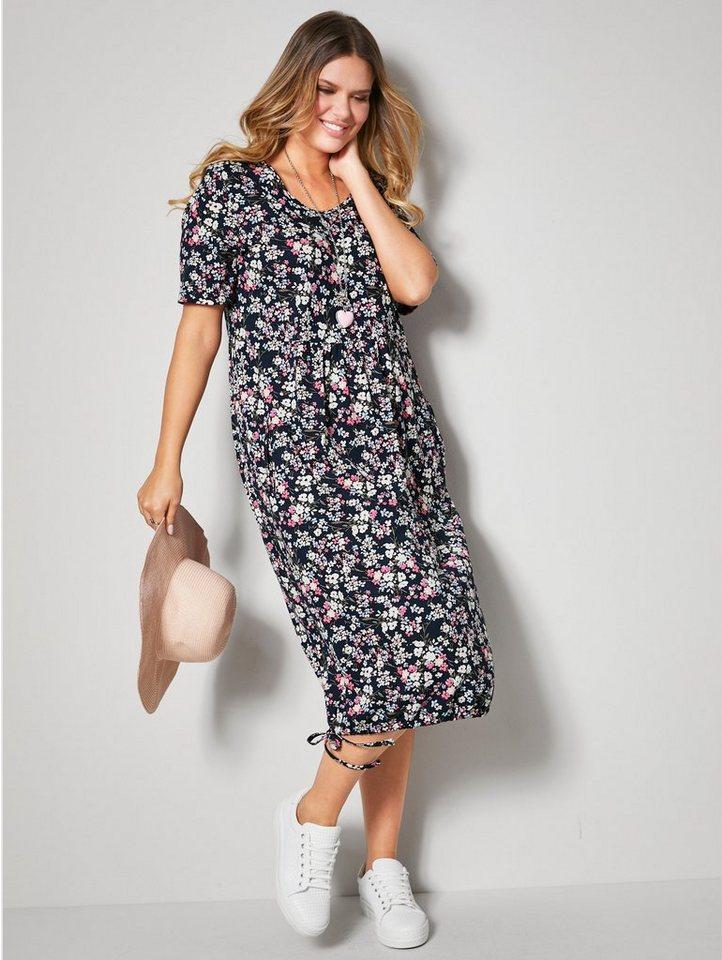 janet & joyce by happysize -  Sommerkleid mit Tunnelzug am Saum zur Weitenregulierung