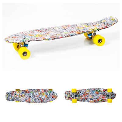 "Moni Skateboard »Kinder Skateboard Kicker 27""«, 85A PU Rollen, ABEC 7, Alu-Achsen, Lenkgummis 90A"