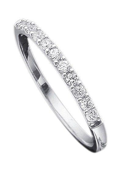 Diamantring weißgold  firetti Ring: Verlobungsring / Vorsteckring / Memoire, Weißgold ...