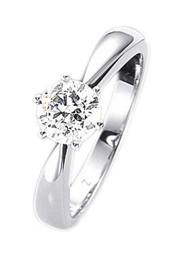 Firetti Fingerring »Verlobungsring, Vorsteckring, Solitär, Weißgold«, mit Brillant in Krappenfassung