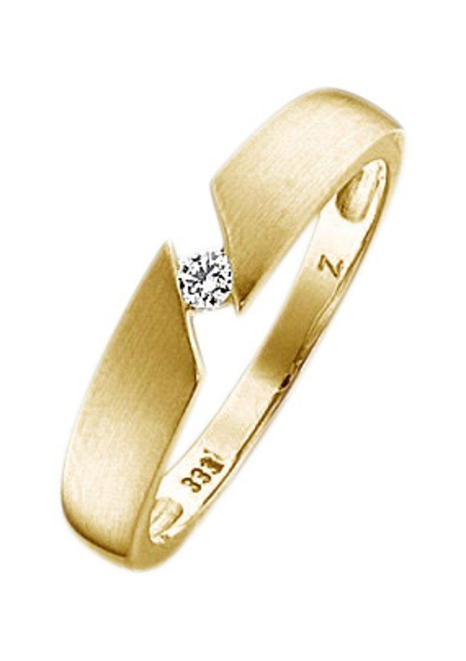 firetti Ring: Spannring mit Diamant, Gelbgold in Gelbgold 333