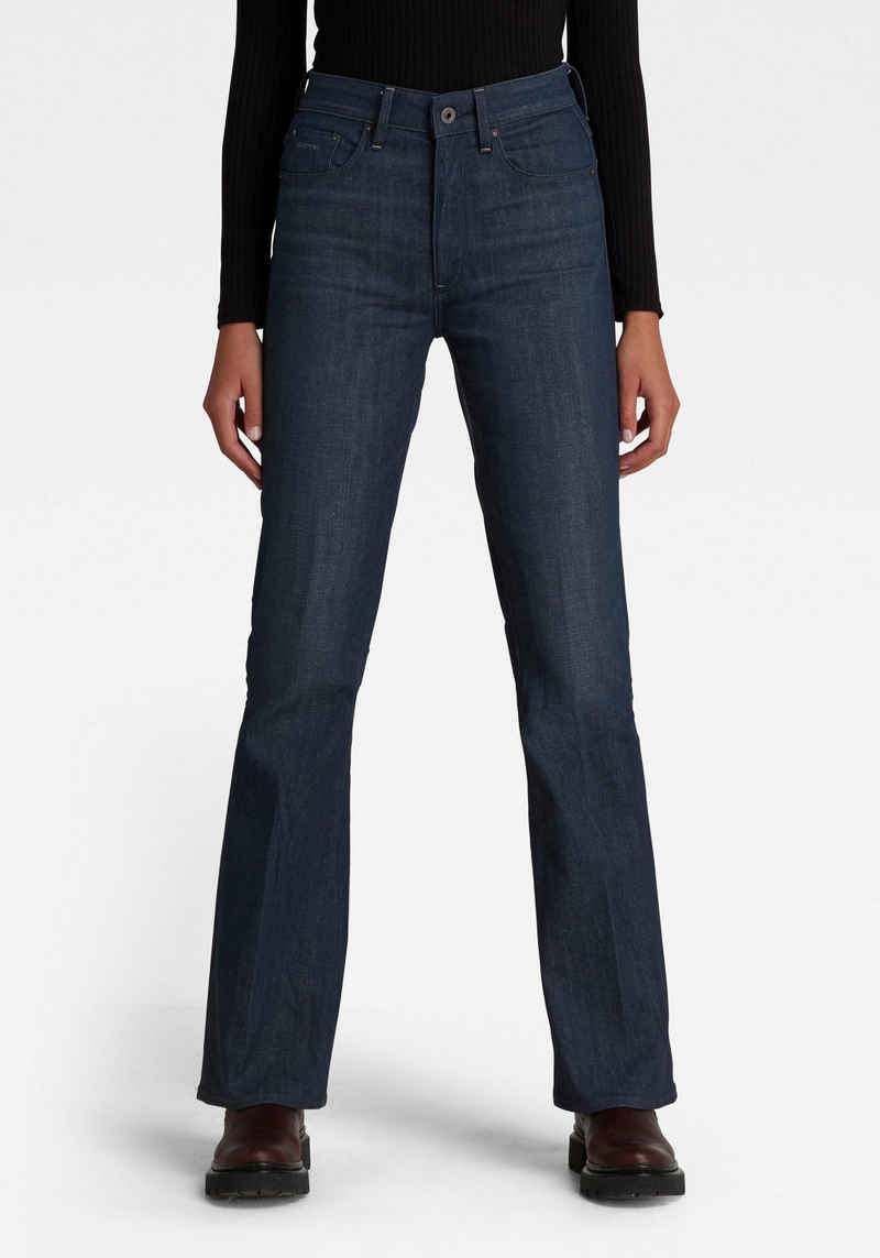 G-Star RAW Weite Jeans »3301 Flare« mit hohen Bund und weiten Beinverlauf