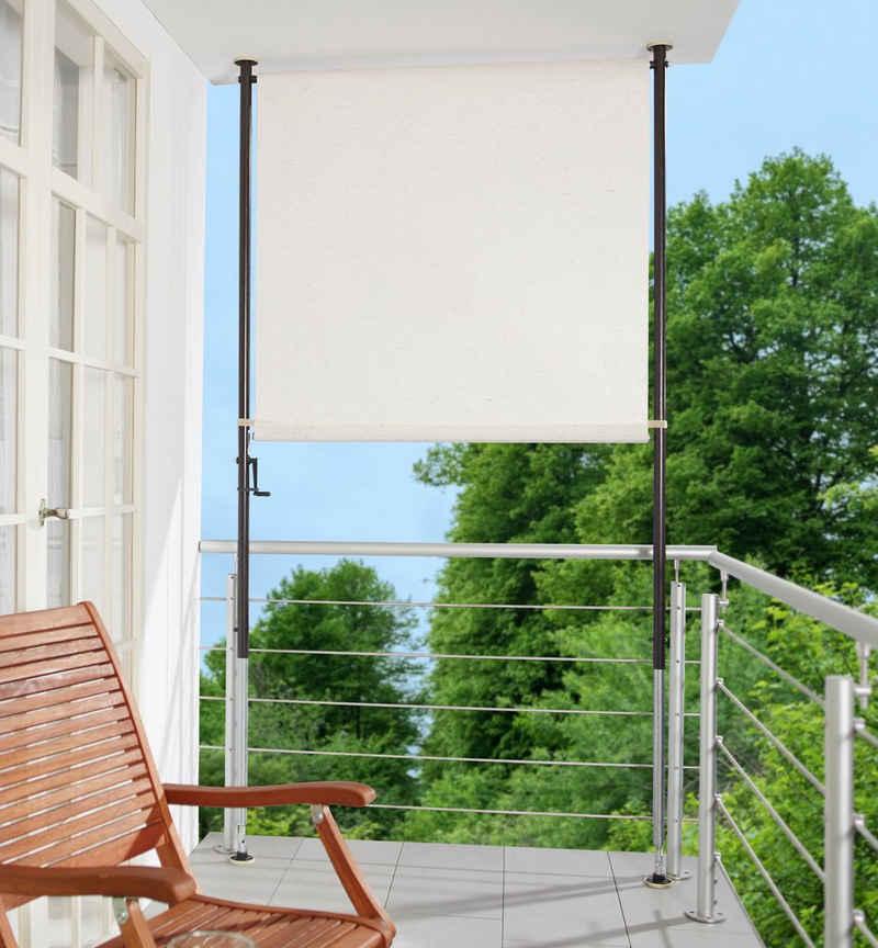Angerer Freizeitmöbel Klemm-Senkrechtmarkise beige, BxH: 150x275 cm