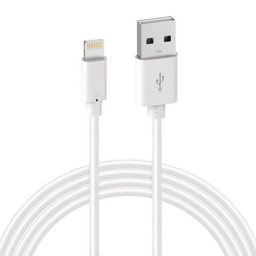 Quntis Smartphone-Kabel, USB A auf Lightning (200 cm), Quntis 1Pack 2m iPhone Ladekabel, MFi Zertifiziert USB A auf Lightning Kabel, iPhone Kabel kompatibel mit iPhone 12 SE 2020 11 Pro XS Max XR X 8 Plus 7 Plus 6 Plus 5s SE iPad Pro Air Mini iPod Airpods