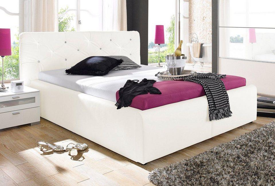 Boxspring bett weiß 160x200  Kunstlederbett online kaufen » mit & ohne Bettkasten | OTTO