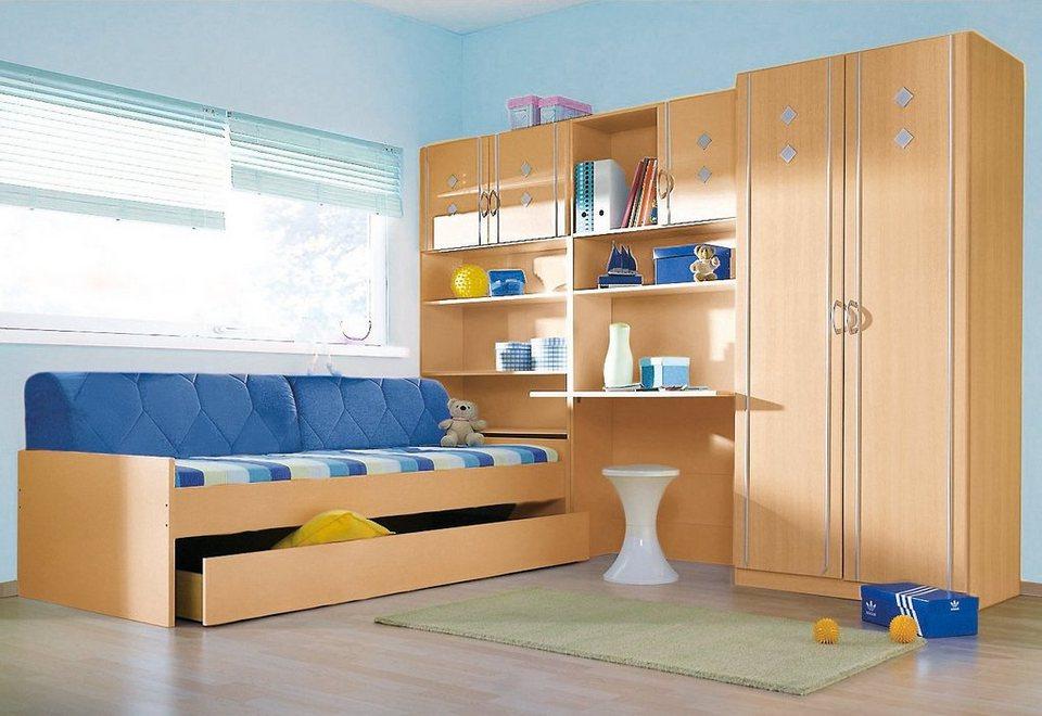 rauch Jugendzimmer-Set (4-tlg.) in weiß-graumetallic