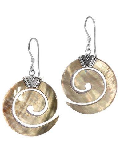 Adelia´s Paar Ohrhänger »Perlmutt Ohrschmuck 925 Silber«