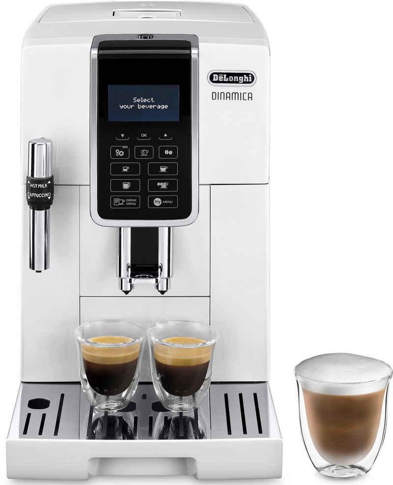 De'Longhi Kaffeevollautomat Dinamica ECAM 350.35.W, großer 1.8l Wassertank