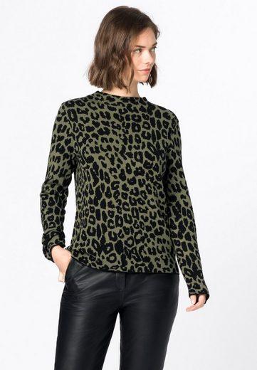 HALLHUBER Strickpullover »mit Leopardenmuster«