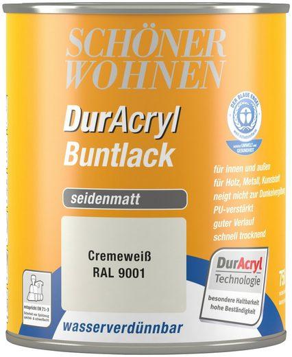 Schöner Wohnen Farbe Buntlack »DurAcryl seidenmatt, 750 ml cremeweiß«