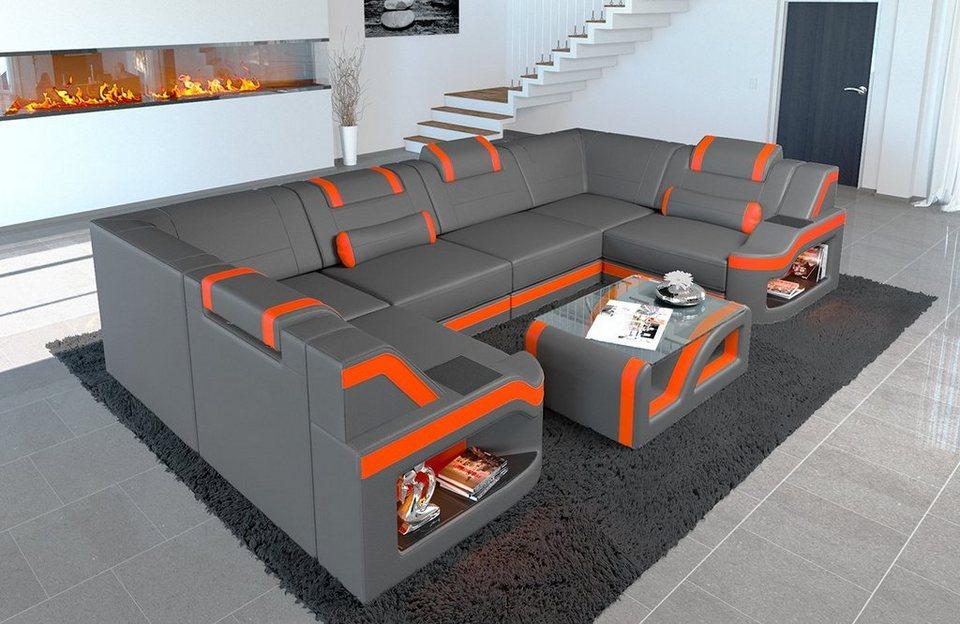 Sofa Dreams Sofa »Padua«, U Form, Hochwertige Verarbeitung ...