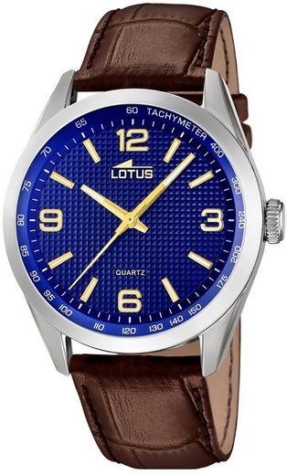 Lotus Multifunktionsuhr »UL18149/5 LOTUS Herren Uhr Elegant 18149/5 Leder«, (Analoguhr), Herren Armbanduhr rund, groß (ca. 43mm), Lederarmband braun