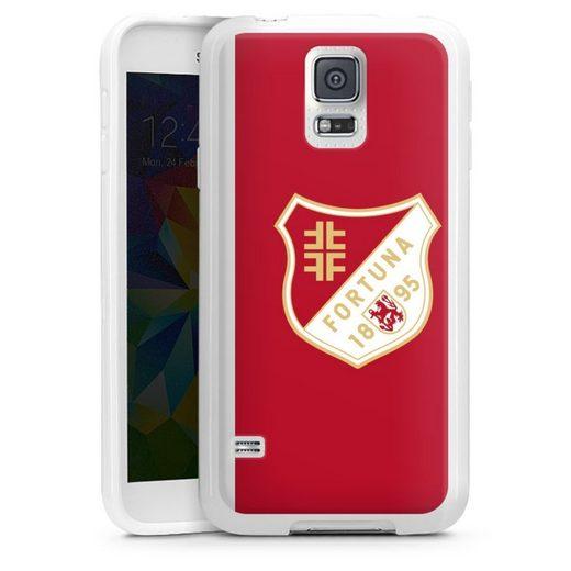 DeinDesign Handyhülle »Fortuna 1895 Rot« Samsung Galaxy S5, Hülle Wappen Fortuna Düsseldorf Fußballer