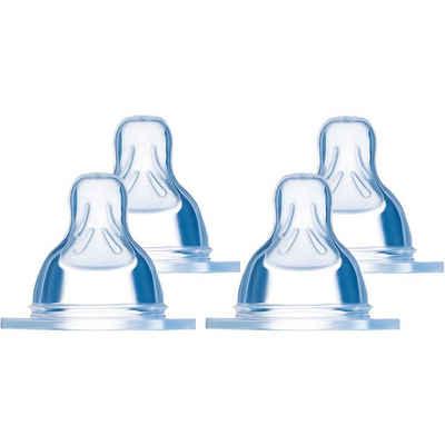 MAM Babyflasche »Sauger Weithals Silikon, Gr.1+2, je 2 Stück«