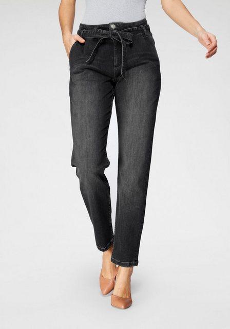Hosen - BLUE FIRE Gerade Jeans »RITA BF« mit passendem Bindegürtel ›  - Onlineshop OTTO