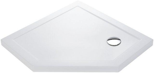 Duschen und Zubehör - welltime Eckdusche »Pentagon«, BxT 90x90 cm, Einscheibensicherheitsglas, mit großem Verstellbereich  - Onlineshop OTTO