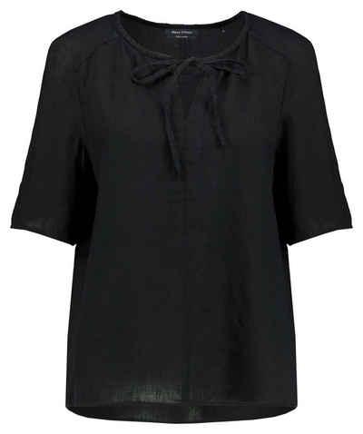 Marc O'Polo Klassische Bluse »Damen Leinenbluse Kurzarm«