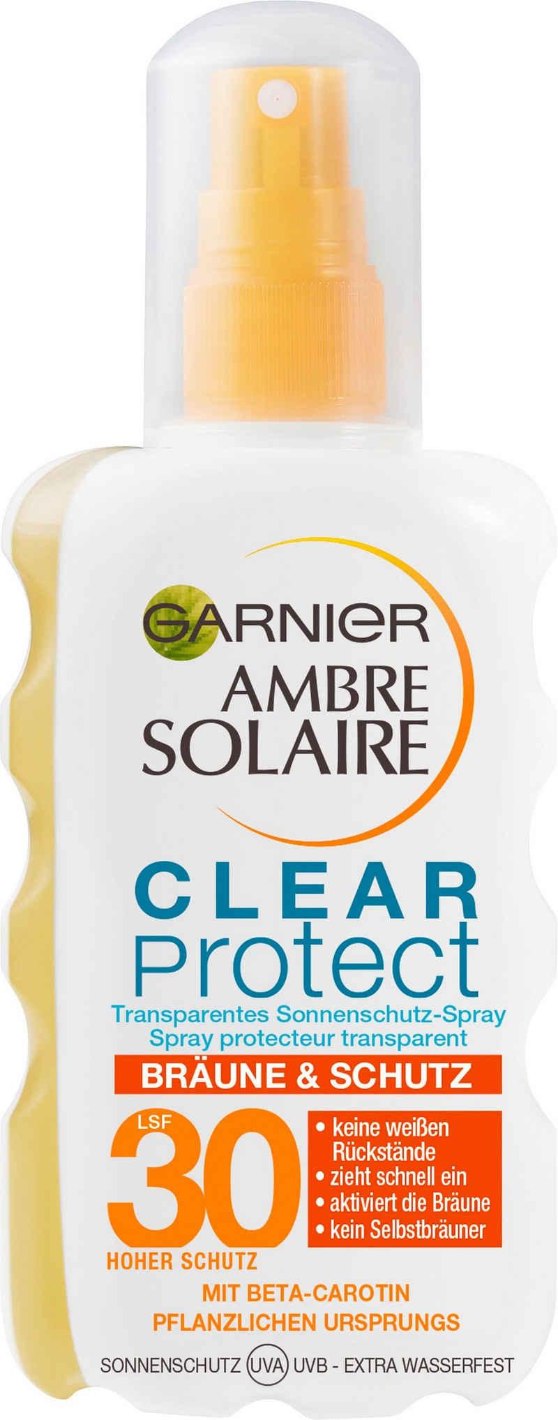 GARNIER Sonnenschutzspray »Clear Protect Bräune & Schutz«, transparentes Sonnenschutz-Spray LSF 30