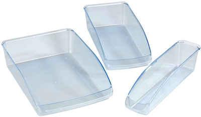 WENKO Aufbewahrungsbox (Set, 3 Stück), Kühlschrank-Organizer aus Kunststoff, schafft Ordnung im Kühlschrank