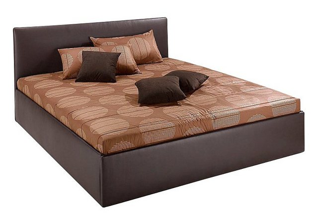 Westfalia Schlafkomfort Polsterbett| mit Bettkasten | Schlafzimmer > Betten > Polsterbetten | Braun | Kunstleder | Westfalia Schlafkomfort