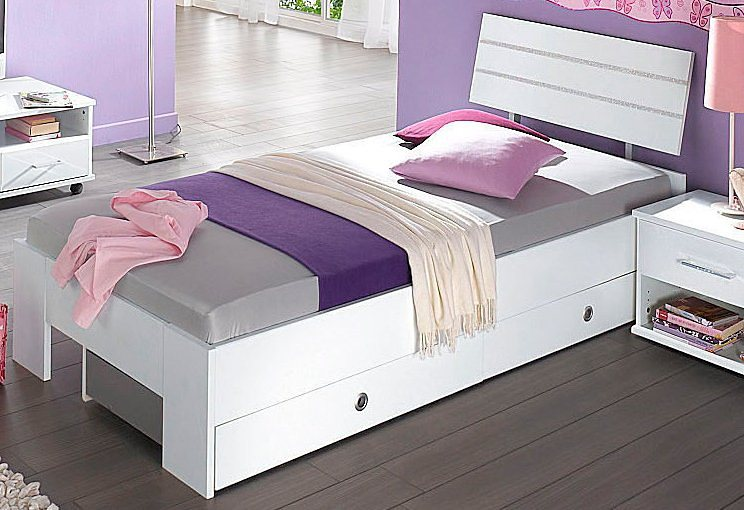 kinderbett mit bettkasten mit schublade online kaufen otto. Black Bedroom Furniture Sets. Home Design Ideas