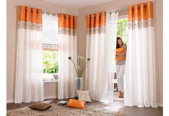 Vorhang »Sorel«, my home, Ösen (1 Stück), Gardine, Fertiggardine, halbtransparent