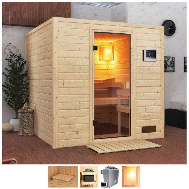 Saunen und Zubehör - Karibu Sauna »Jacky«, BxTxH 195 x 195 x 187 cm, 38 mm, 4,5 kW Ofen mit ext. Steuerung  - Onlineshop OTTO