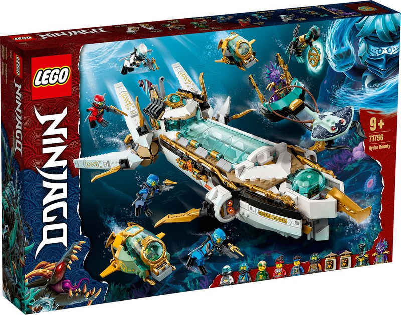 LEGO® Konstruktionsspielsteine »Wassersegler (71756), LEGO® NINJAGO®«, (1159 St), Made in Europe