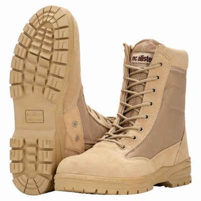 Commando-Industries »Army Patriot Boots Kampfstiefel mit Reißverschluss khaki« Stiefel