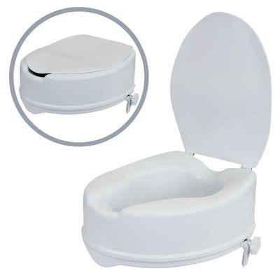 flexilife Toilettensitzerhöhung flexilife WC Sitz Erhöhung Toilettensitzerhöhung 10 cm Toilettenaufsatz mit Deckel