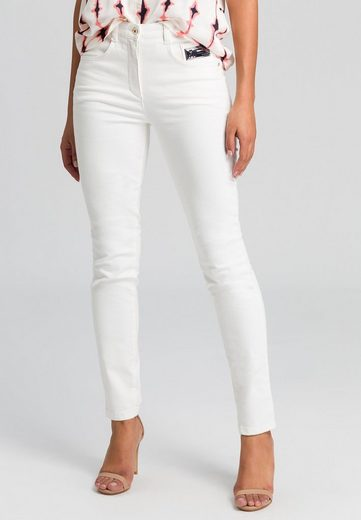 MARC AUREL 5-Pocket-Jeans mit Metallicbadge