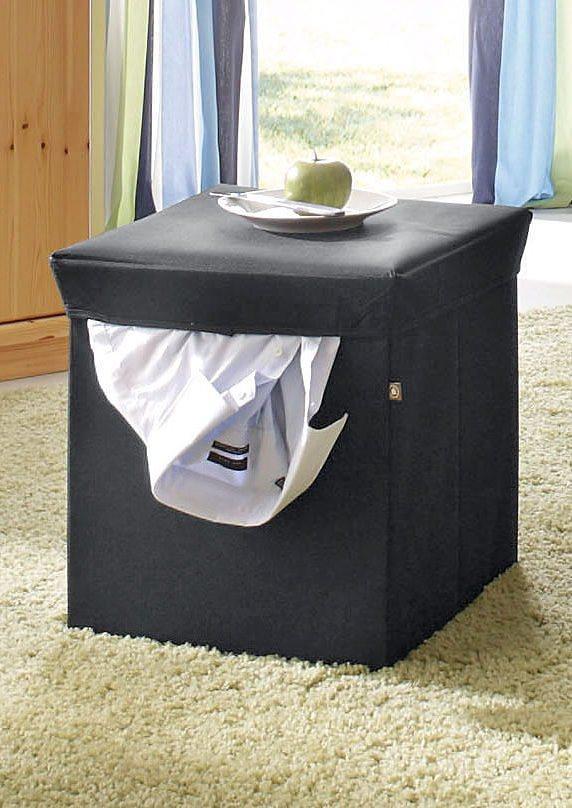 INOSIGN Sitz- und Aufbewahrungsbox Sitz- und Aufbewahrungsbox aus Canvas in schwarz