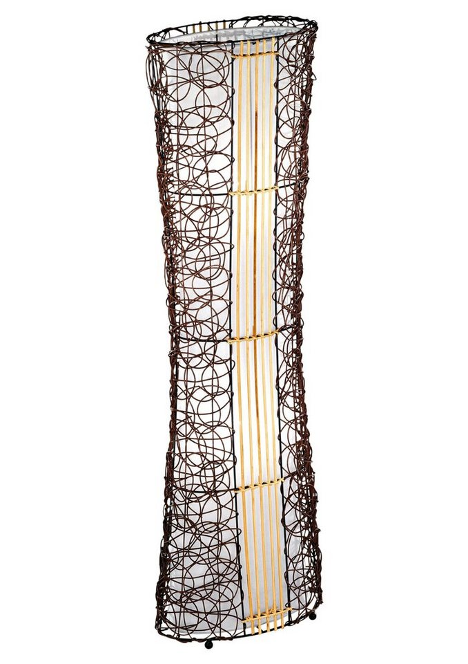 Stehlampe, Trio. Die Leuchte ist geeignet für Leuchtmittel der EEK A++ bis E. in braun