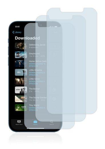 Savvies Schutzfolie »Panzerglas für Apple iPhone 12 Pro Max«, (3 Stück), Schutzglas Echtglas 9H klar