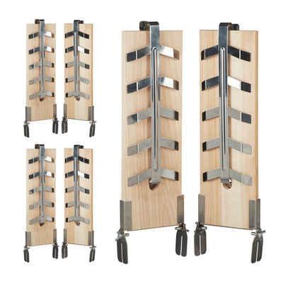 relaxdays Grillguthalter »6 x Flammlachsbretter«, Holz