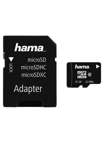 HAMA MicroSDHC 32 GB Class 10 22MB/s + Adap...
